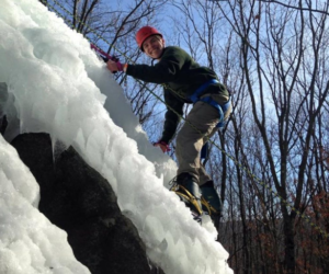ice-climbing - New England Base Camp in the Blue Hills near Boston